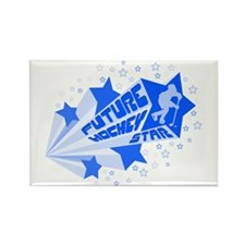 Future Hockey Star Rectangle Magnet (10 pack)
