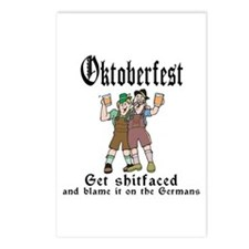 Funny Oktoberfest Postcards (Package of 8)