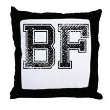 BF, Vintage Throw Pillow