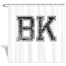BK, Vintage Shower Curtain