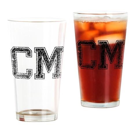 CM, Vintage Drinking Glass