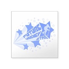 "Future Hockey Star Square Sticker 3"" x 3&quot"