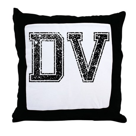 DV, Vintage Throw Pillow