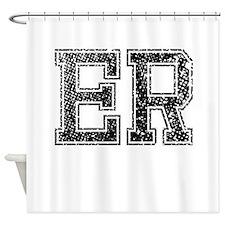 ER, Vintage Shower Curtain