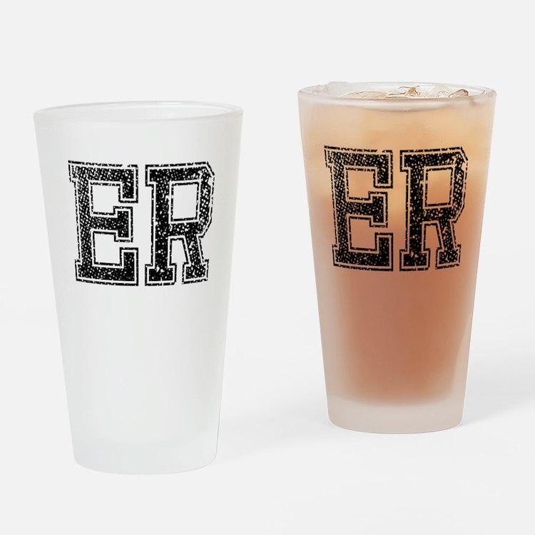ER, Vintage Drinking Glass