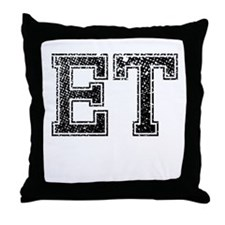ET, Vintage Throw Pillow