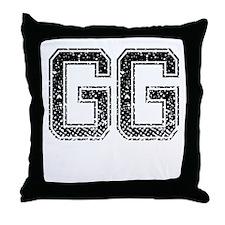 GG, Vintage Throw Pillow
