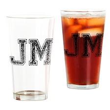 JM, Vintage Drinking Glass