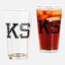 KS, Vintage Drinking Glass