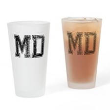MD, Vintage Drinking Glass