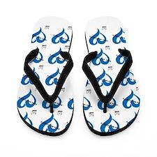RMF Wrap Blue Flip Flops