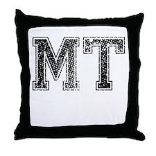 MT, Vintage Throw Pillow