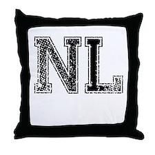 NL, Vintage Throw Pillow