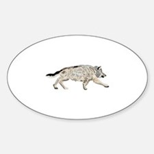 Wolf Sticker (Oval)