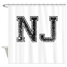NJ, Vintage Shower Curtain