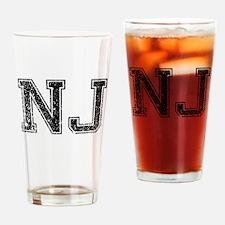 NJ, Vintage Drinking Glass