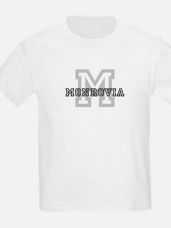 Monrovia (Big Letter) Kids T-Shirt