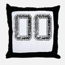 OO, Vintage Throw Pillow