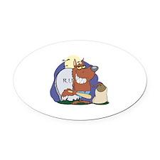 Wolf Halloween Oval Car Magnet