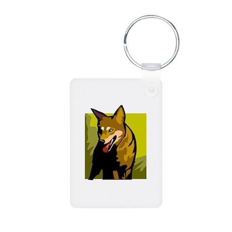 Dingo Aluminum Photo Keychain