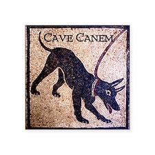 """Cave Canem"" Square Sticker 3"" x 3"""