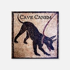 """Cave Canem"" Square Sticker 3"" x 3"""
