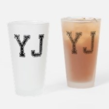 YJ, Vintage Drinking Glass