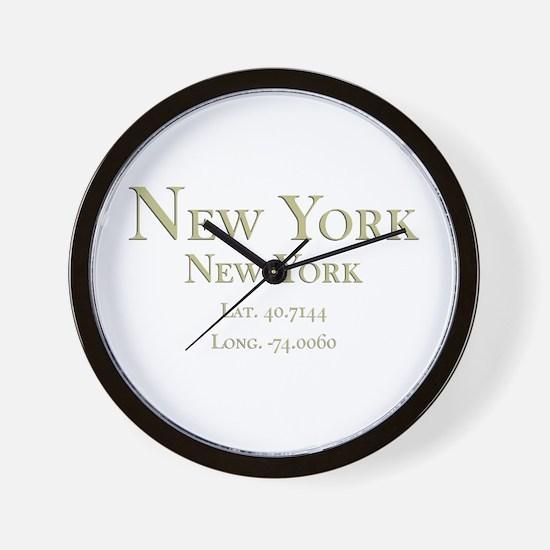 New York-1.png Wall Clock