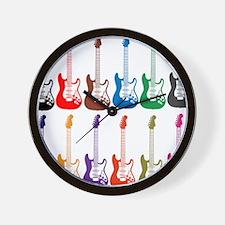 Electric Guitar Pop Art Wall Clock