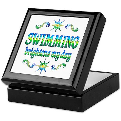 Swimming Brightens Keepsake Box