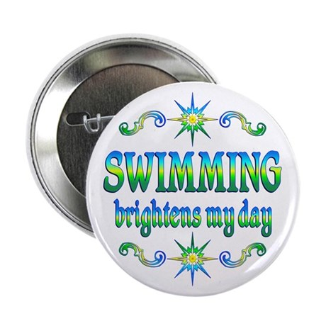 "Swimming Brightens 2.25"" Button (10 pack)"