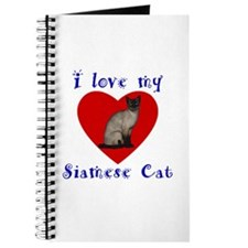I Love My Siamese Cat Journal