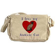 I Love My Siamese Cat Messenger Bag