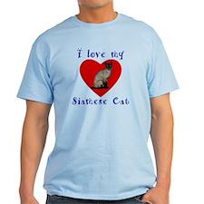 I Love My Siamese Cat T-Shirt