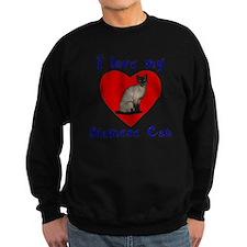 I Love My Siamese Cat Sweatshirt
