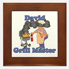 Grill Master David Framed Tile