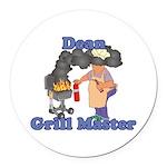 Grill Master Dean Round Car Magnet