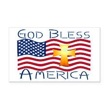 God bless america-1.png Rectangle Car Magnet