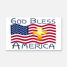 God bless america-1.png Rectangle Car Magnet