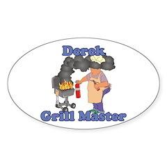 Grill Master Derek Sticker (Oval)