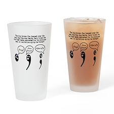 Comma Period Semicolon Drinking Glass