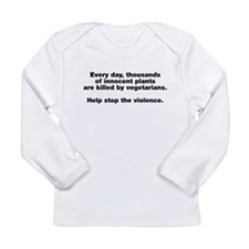 Stop Plant Violence Long Sleeve Infant T-Shirt