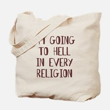 Im going to hell Tote Bag