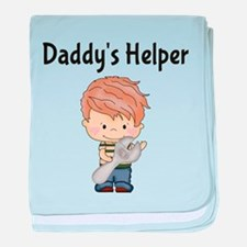 Daddys Helper with Wrench baby blanket