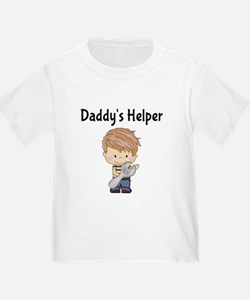 Daddys Helper T with Boy and Wrench