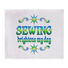 Sewing Brightens Throw Blanket