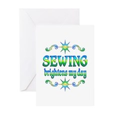 Sewing Brightens Greeting Card