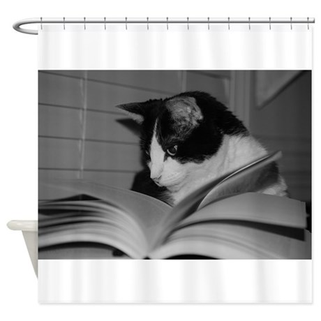 Max Studying Shower Curtain