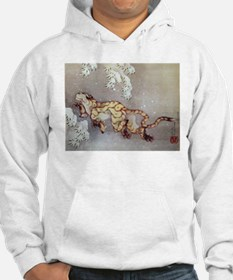 Hokusai Old Tiger In The Snow Hoodie
