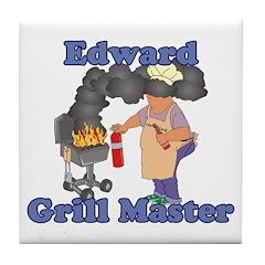 Grill Master Edward Tile Coaster